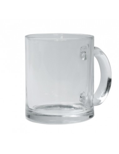 Taza de vidrio trasparente