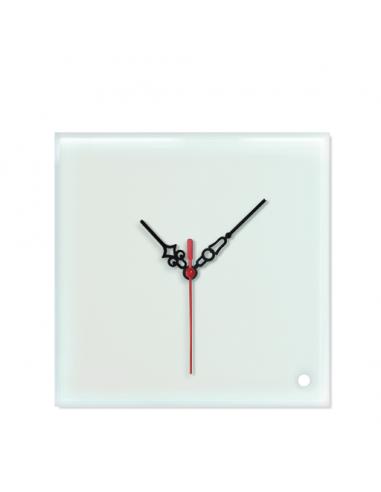 Reloj de pared de cristal cuadrado